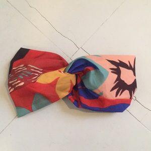 Zara turban-style headband boho scarf print
